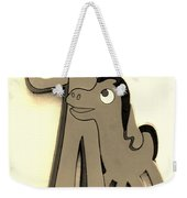 Gumby And Pokey B F F In Sepia Weekender Tote Bag