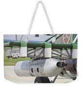 Gun Pod On A Slovakian Mi-17 Helicopter Weekender Tote Bag