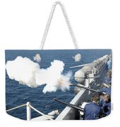 Gunners Mates Test Fire The Ships Weekender Tote Bag