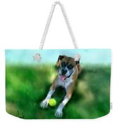 Gus The Rescue Dog Weekender Tote Bag
