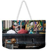 Guys On A Bench - Jackson Square Weekender Tote Bag