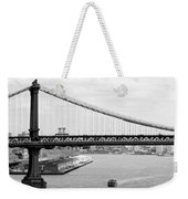 Manhattan Bridge Span Weekender Tote Bag