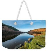 Gwydyr Forest Lake Weekender Tote Bag by Adrian Evans
