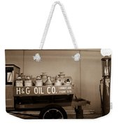 H And G Oil Company In Sepia Weekender Tote Bag