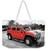 Red Hummer H2 Series  Weekender Tote Bag
