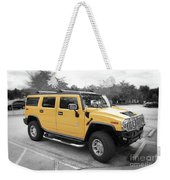 Hummer H2 Series Yellow Weekender Tote Bag