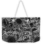 H2 Sunflowers Map Bw Weekender Tote Bag