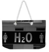 H2o In Black And White Weekender Tote Bag