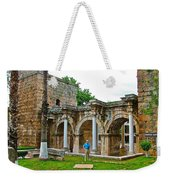 Hadrian's Gate In Antalya-turkey Weekender Tote Bag