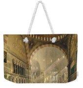Haghia Sophia, Plate 24 Interior Weekender Tote Bag by Gaspard Fossati