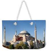 Hagia Sophia Mosque Landmark In Instanbul Turkey Weekender Tote Bag