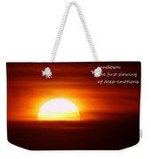 Haiku Sundown Weekender Tote Bag