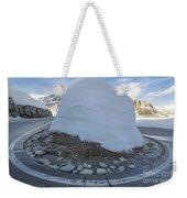 Hairpin Bend With Snow Weekender Tote Bag