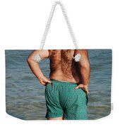 Hairy Ocean Weekender Tote Bag