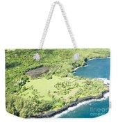 Aerial View Hale O Pi'ilani Heiau Honomaele Hana Maui Hawaii  Weekender Tote Bag