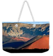 Haleakala Cinder Cones Lit From The Sunrise Within The Crater Weekender Tote Bag