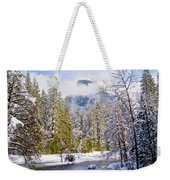 Half Dome And The Merced River Weekender Tote Bag by Bill Gallagher