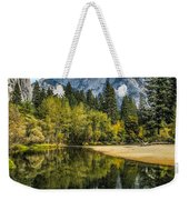 Half Dome Reflected In The Merced River Weekender Tote Bag