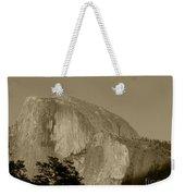 Half Dome Sepia Weekender Tote Bag
