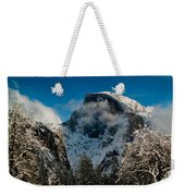 Half Dome Winter Weekender Tote Bag