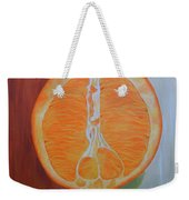 Half Orange Weekender Tote Bag