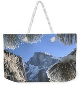 2m6757-halfdome In Winter Weekender Tote Bag