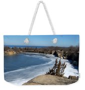 Icy Quarry Weekender Tote Bag