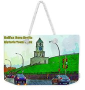 Halifax Historic Town Clock Poster Weekender Tote Bag