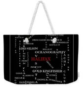 Halifax Nova Scotia Crosswords Red Weekender Tote Bag