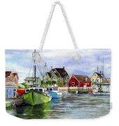 Peggys Cove Nova Scotia Watercolor Weekender Tote Bag