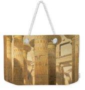Hall Of Columns, Karnak, From Egypt Weekender Tote Bag by David Roberts