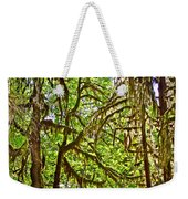 Hall Of Mosses In Hoh Rain Forest In Olympic National Park-washington Weekender Tote Bag