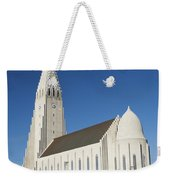 Hallgrimskirkja Church In Reykjavik Iceland Weekender Tote Bag