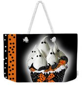 Halloween Ghost Cupcake 3 Weekender Tote Bag