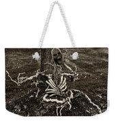 Halloween Green Skeleton Black And White Weekender Tote Bag