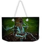 Halloween Green Skeleton Vinette Weekender Tote Bag