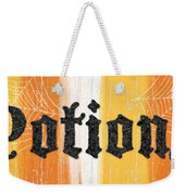 Halloween Potions Sign Weekender Tote Bag by Linda Woods