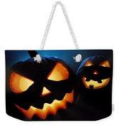 Halloween Pumpkins Closeup -  Jack O'lantern Weekender Tote Bag