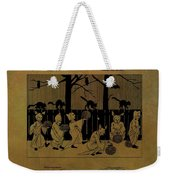 Halloween Trick Or Treaters Patent Weekender Tote Bag