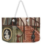 Halloween Witch Weekender Tote Bag by Margaryta Yermolayeva