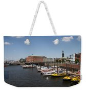 Hamburg Port With Fleet  Weekender Tote Bag