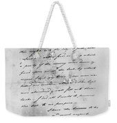 Hamilton: Letter, 1777 Weekender Tote Bag