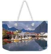 Hamnoy Fishing Village On Lofoten Islands Weekender Tote Bag