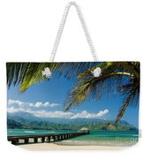 Hanalei Pier And Beach Weekender Tote Bag