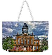 Before It Burned Hancock County Courthouse Art Weekender Tote Bag