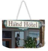 Hand Hotel Weekender Tote Bag
