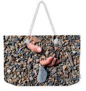 Hand In Gravel Weekender Tote Bag by Stephan Pietzko