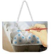 Hand Painted Easter Eggs Weekender Tote Bag by Juli Scalzi