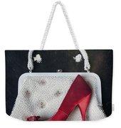 Handbag With Stiletto Weekender Tote Bag by Joana Kruse