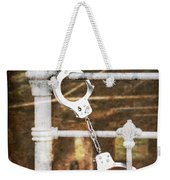 Handcuffs On Bed Weekender Tote Bag